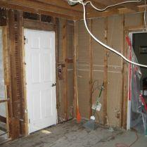 door installation for kitchen remodel